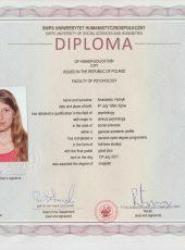 Диплом – корекційний психолог Гутник Анастасія